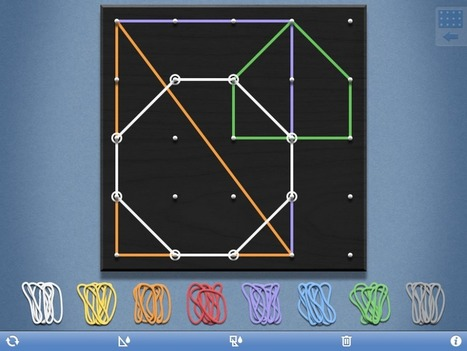 No More Rubber Bands: Virtual Geoboard | Education | Scoop.it