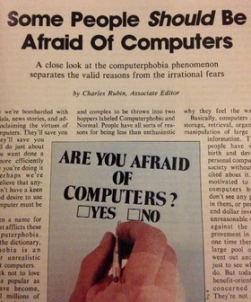 When People Feared Computers - The Atlantic | Technology & Human Behavior | Scoop.it