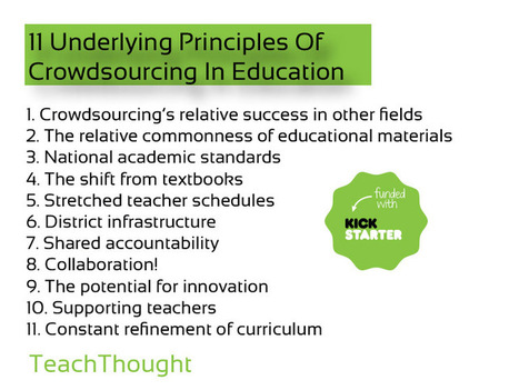 11 Underlying Principles Of Crowdsourcing In Education | Educational Leadership and Technology | Scoop.it