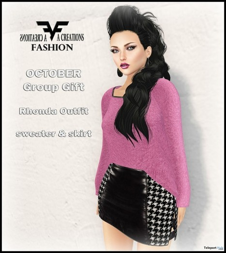 Rhonda Outfit October 2015 Group Gift by FA CREATIONS | Teleport Hub - Second Life Freebies | Second Life Freebies | Scoop.it