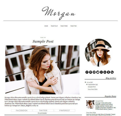 Blogger Template - Morgan - Blogger Theme - Instant Download | Blogger themes | Scoop.it