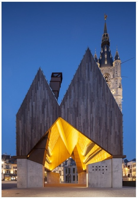 [Ghent, Belgium] Market Hall / Marie-José Van Hee + Robbrecht & Daem | The Architecture of the City | Scoop.it