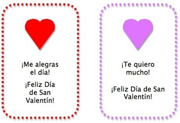 Spanish Valentines for Kids: Cards and Activities | My Love for Spanish Teaching | Scoop.it