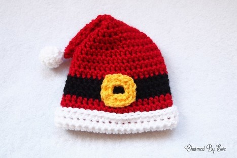 Free Crochet Pattern Santa Hat Baby : Free Crochet Pattern: Preemie Santa Hat Just ...