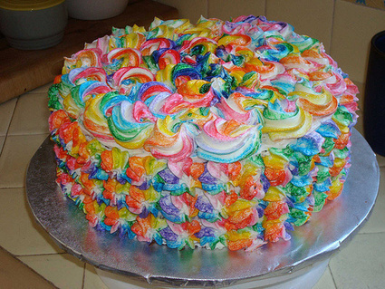 Tie-Dyed Cake for Chloe | birthday ideas | Scoop.it
