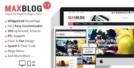 MaxBlog - Responsive Magazine Blogger Theme by MyTemplatesLab | ThemeForest | Blogger themes | Scoop.it