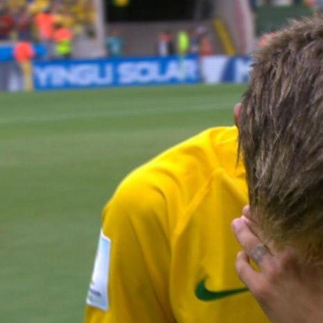 Neymar gets emotional during Brazilian anthem | FIFA World Cup Brazil 2014 | Scoop.it