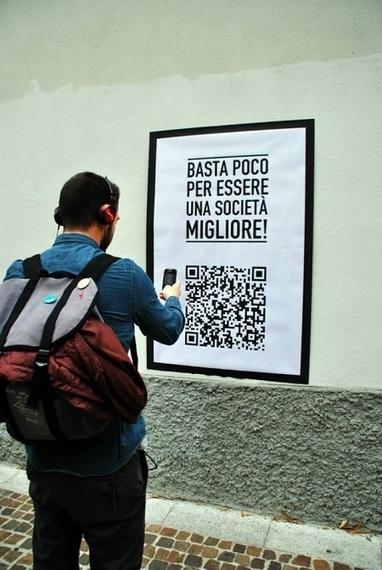 Activisme digital à Milan, des QR codes sur les murs. | Espaços expandidos | Scoop.it