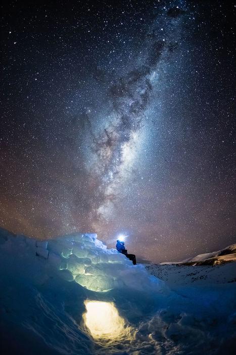 Igloo under night sky   My Photo   Scoop.it