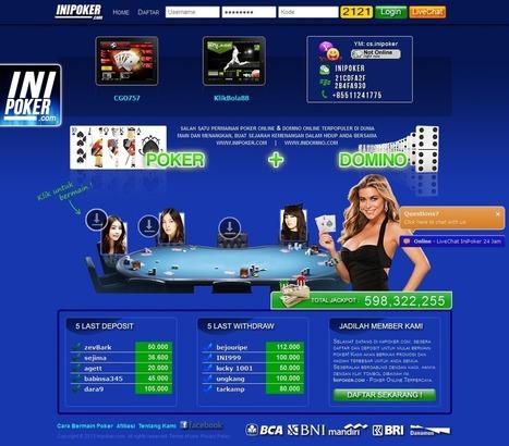 iniPoker.net JUDI POKER DOMINO QQ ONLINE INDONESIA   Situs Agen Texas Poker Online Indonesia Terpercaya   Scoop.it