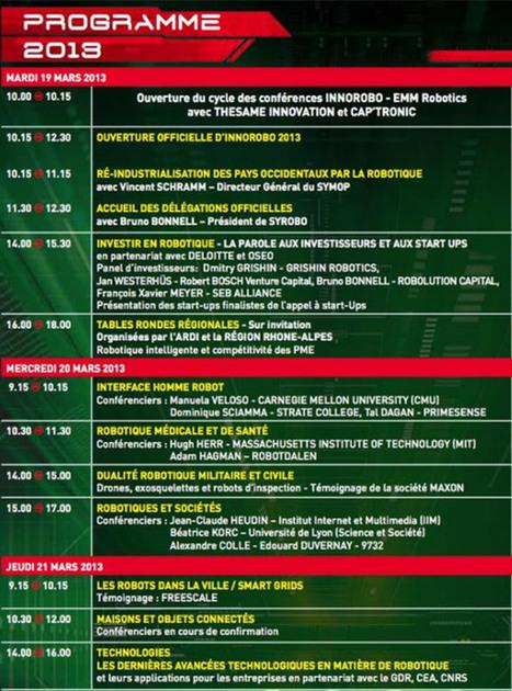 Innorobo 2013 : les grandes lignes et le programme | Actualités robots et humanoïdes | Scoop.it