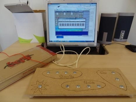 Pad musical en bois - Makey Makey - LabFab Rennes - Projet de laboratoire de fabrication francophone | Philipp's page | Scoop.it
