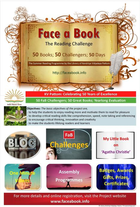'Face a Book' (FaB): The Summer Reading Challenge by the KV Pattom Library launched | My Library - my world. | Scoop.it