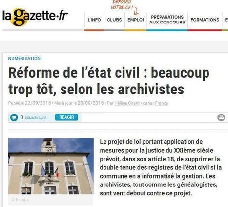 Réforme de l'état civil | Cercle Genealogique de Maisons-Alfort | CGMA Généalogie | Scoop.it