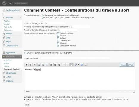 [WordPress] Comment Contest, gérer les résultats des concours sur un blog | Time to Learn | Scoop.it