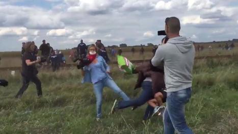 Une journaliste hongroise licenciée après avoir fait un croche-pied à un migrant | Actu des médias | Scoop.it