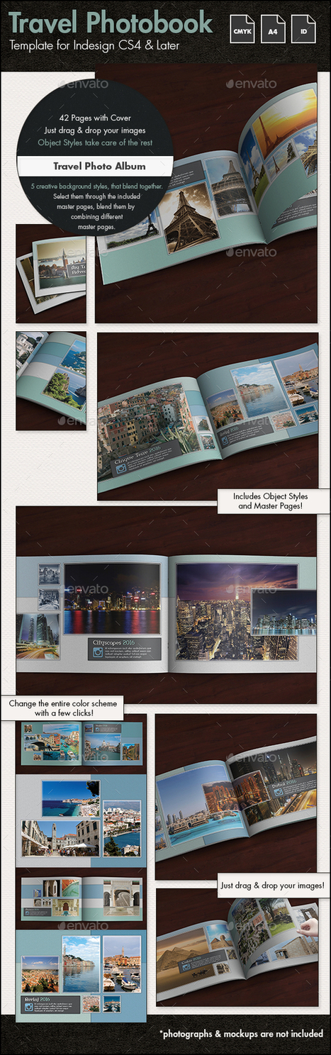 Travel Photo Album Template g1 - A4 Landscape | About Photography | Scoop.it