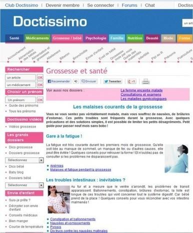 Quand Doctissimo était mon meilleur ami de la grossesse... | Autour de la puériculture, des parents et leurs bébés | Scoop.it