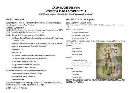 XXXIX Noche del Vino - Cómpeta - 15 de Agosto | Cosas de mi Tierra | Scoop.it