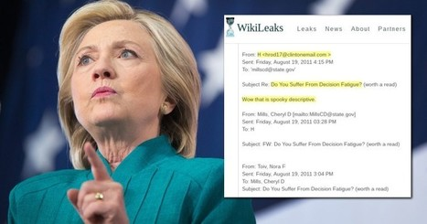 "Wikileaks: Hillary Looked Into Parkinson's Drug After Suffering From ""Decision Fatigue"" 