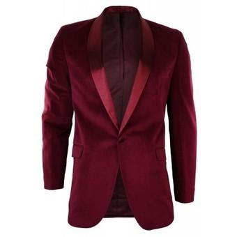 Mens Burgandy Maroon Velvet Shawl Round Collar Tuxedo Blazer Jacket | Mens clothing | Scoop.it