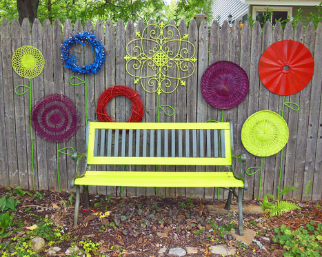 How To Make A Recycled Garden Fence Flower Folk Art Display   Annie Haven   Haven Brand   Scoop.it