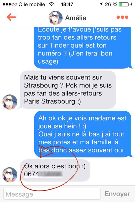 1er message rencontre internet