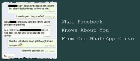 What Facebook Knows About You From One WhatsApp Convo | Social Foraging | Scoop.it
