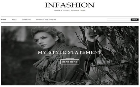 Download iNFashion Blogger Template Responsive - Designsave.com | Blogger themes | Scoop.it