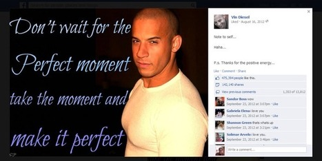 How Vin Diesel's Facebook Page Won the Internet - and How You Can Follow His Example - LKR Social Media | Social Media Buzz | Scoop.it