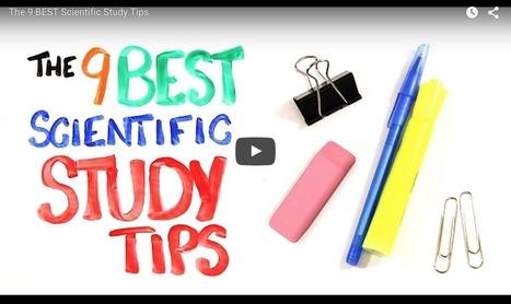 9 studietips samengevat in een korte video   Master Onderwijskunde Leren & Innoveren   Scoop.it