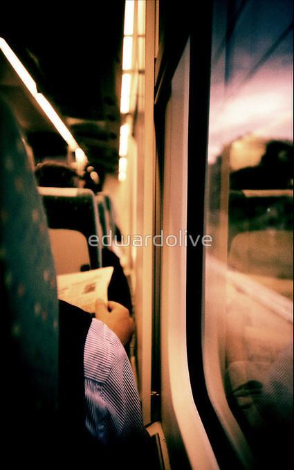 Man on train - Lomo LCA xpro lomographic analog 35mm film by edwardolive   Ziccer - ezt ne hagyd ki!   Scoop.it