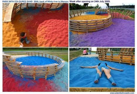 "Adam Kalinowski: ""Park with Coloured Sand"" | Art Installations, Sculpture, Contemporary Art | Scoop.it"
