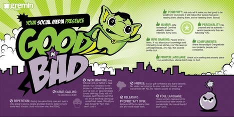 [Infographic] Your Social Media Presence: Good vs. Bad | Gremln ... | Addiction to Social Media | Scoop.it
