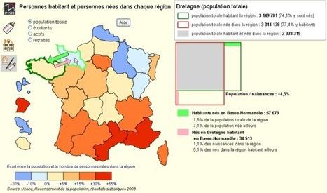 Insee - Territoire - Région de naissance, région de domicile - Cartes interactives | innovation_recrutement | etourisme 2014 | Scoop.it