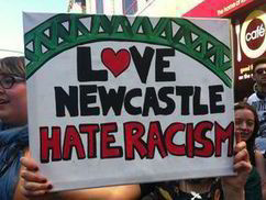English Defence League protest met with cries of 'Nazi scum, off our streets' in Newcastle | The Indigenous Uprising of the British Isles | Scoop.it