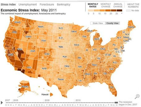 Interactive Map: Economic Stress Index | Developing Spatial Literacy | Scoop.it