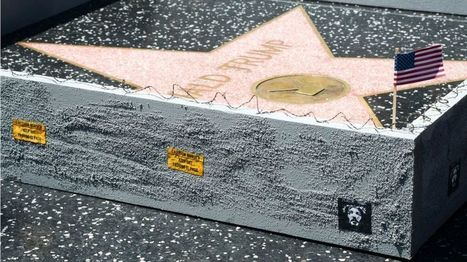 US election: Artist builds wall around Trump's Hollywood star - BBC News | Social Art Practices | Scoop.it