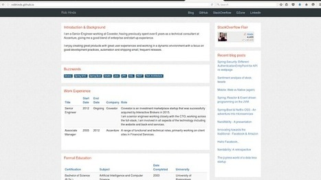 How to Turn Your GitHub Page Into a Personalized Resume - DZone Agile | ED 262 Research & Resource Skills | Scoop.it