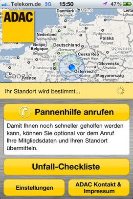 "App Store – ""ADAC Pannenhilfe"" 