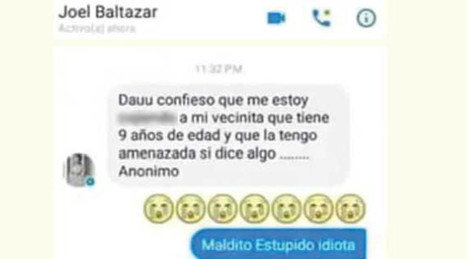 Pederasta de Saltillo confiesa en Facebook que abusa de niña de 9 años y la amenaza | #limpialared | Scoop.it