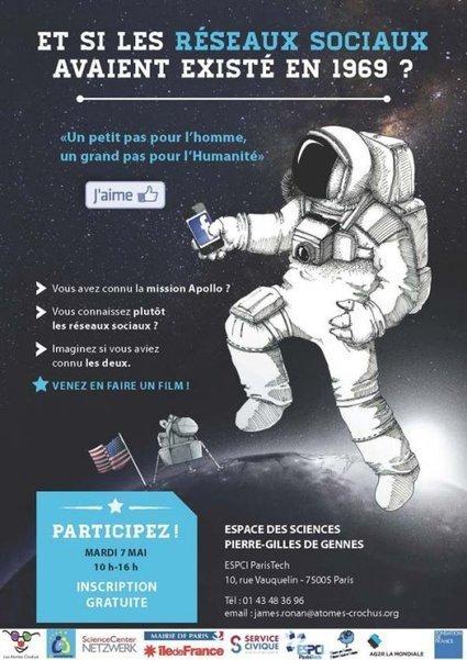Le 7 mai 2013, venez imaginer ce qui se serait passé si les réseaux sociaux avaient existé lors des premiers pas de l'homme sur la Lune en 1969 !   Présent & Futur, Social, Geek et Numérique   Scoop.it