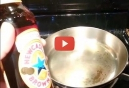 Experiment for beer drinkers and football fans! :) What happens when you put beer in a hot pan! VIDEO   VDroll   Scoop.it
