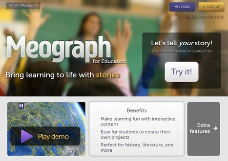 Meograph for education : Four-dimensional storytelling | Time to Learn | Scoop.it
