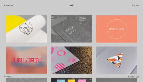 30 Blocky Website Designs Based on a Square Grid | Web Design | Scoop.it