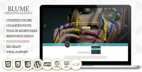 Blume Responsive WordPress Theme - WordpressThemeDB | WordpressThemeDatabase | Scoop.it