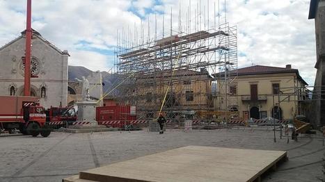 Norcia, la ragnatela di tubi che salverà la facciata della basilica di San Benedetto | notizie e post dal blog di giovanni fonghini e da altri siti | Scoop.it