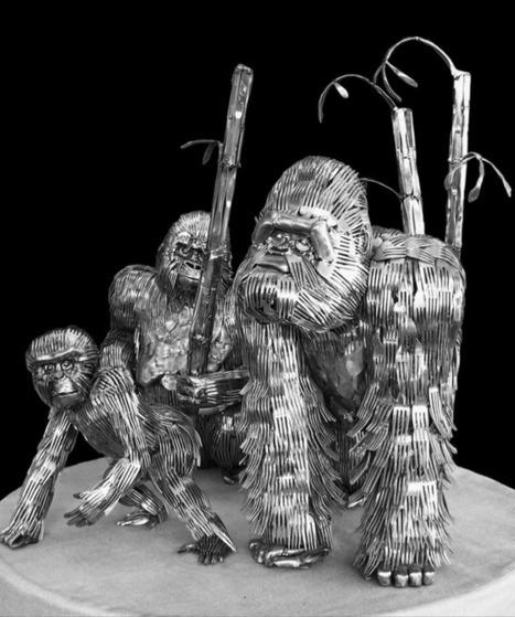 Ohio Artist Turns Kitchen Utensils in Amazing Sculptures   Strange days indeed...   Scoop.it
