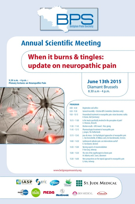 Annual Scientific Meeting: When it burns & tingles: update on neuropathic pain. | News from the Belgian Pain Society | Scoop.it