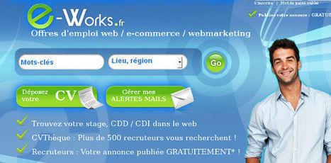 Un site pour trouver un emploi dans le web, e-commerce ou webmarketing (+ concours !) | Time to Learn | Scoop.it